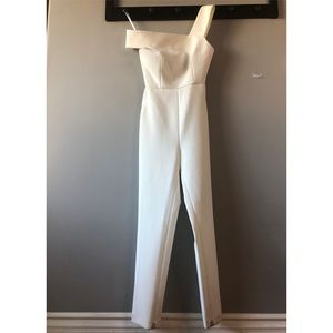 BCBG Ivory One Piece Pant Suit Size 2 w/ stain